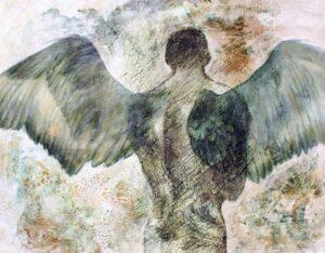 """""""Instante sublime"""" Óleo y acrílico sobre lienzo. 114 x 146 cm"""
