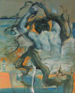 """""""Los cuatro elementos"""" Óleo y acrílico sobre lienzo. 100 x 81 cm"""