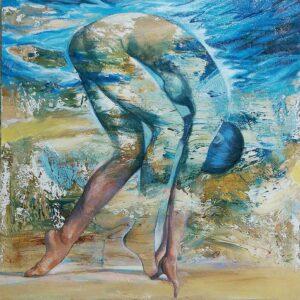 """""""Transfiguración"""" Óleo y acrílico sobre lienzo. 100 x 100 cm"""
